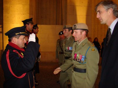 Trooper Mark Gregor Donaldson VC attends Last Post