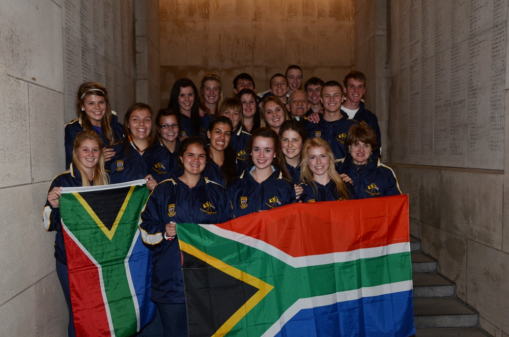 Exchange students Pretoria remember South-Africans killed in action