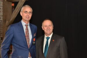 Chairman Benoit Mottrie received the New Zealand Order of Merit