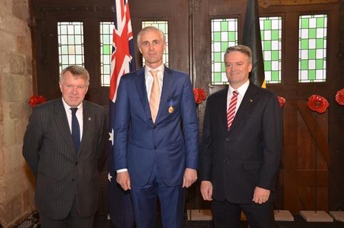 Australia and Last Post Association Ieper congratulate Mr Benoit Mottrie on Order of Australia Award