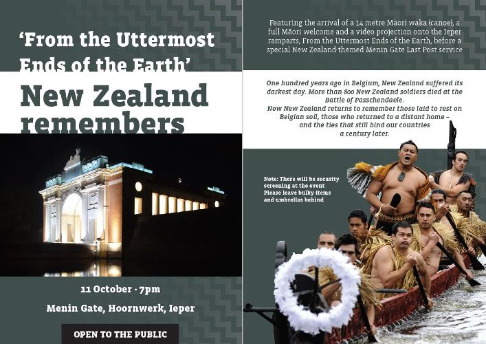 New Zealand commemoration of the centenary of the Battle of Passchendaele