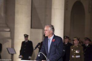 Inauguration of the replica's of the Menin Gate Lions: speech chairman Benoit Mottrie