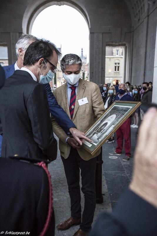 Tonny Desodt bugler for 25 years - Farewell to Ambassador Andrews (New Zealand)