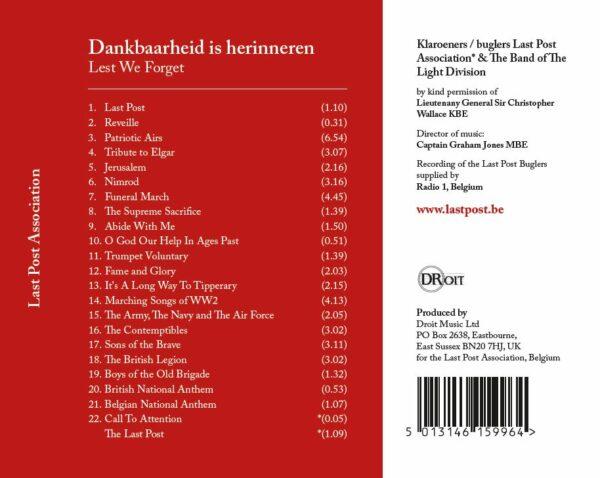 CD Last Post Association - Back