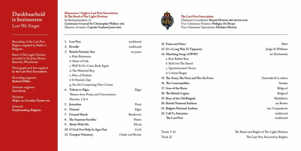 CD Last Post Association - Booklet