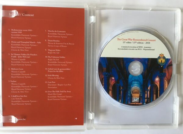 The Great War Remembered Concert - DVD 2018 - Inside