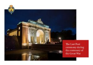 The Last Post ceremony during the centenary of the Great War